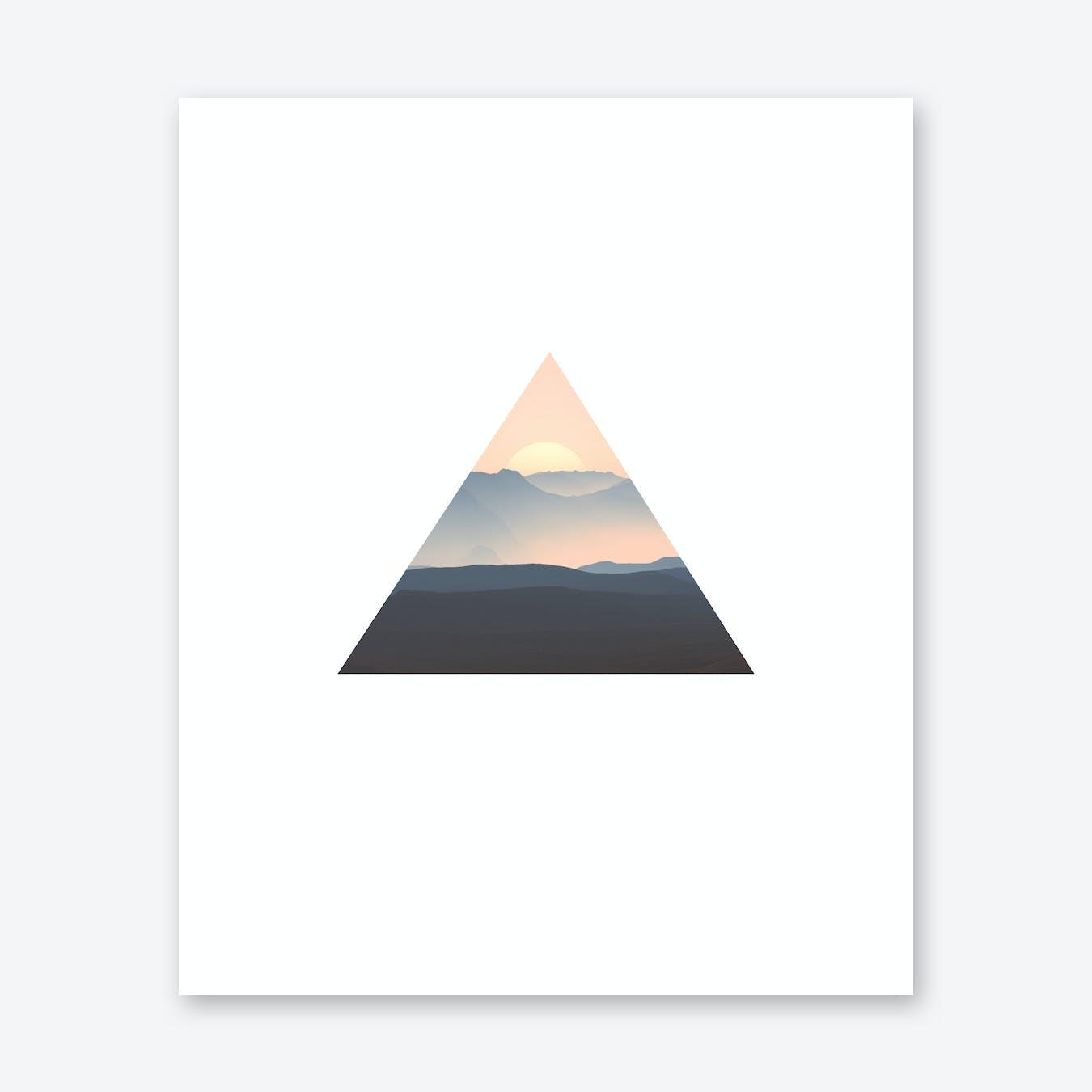 Triangle Sunrise Print