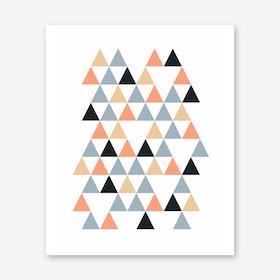 Scandi Triangles Peach Print