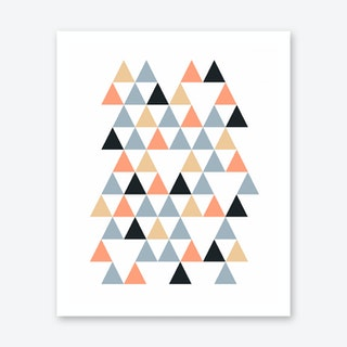 Scandi Triangles Peach Art Print