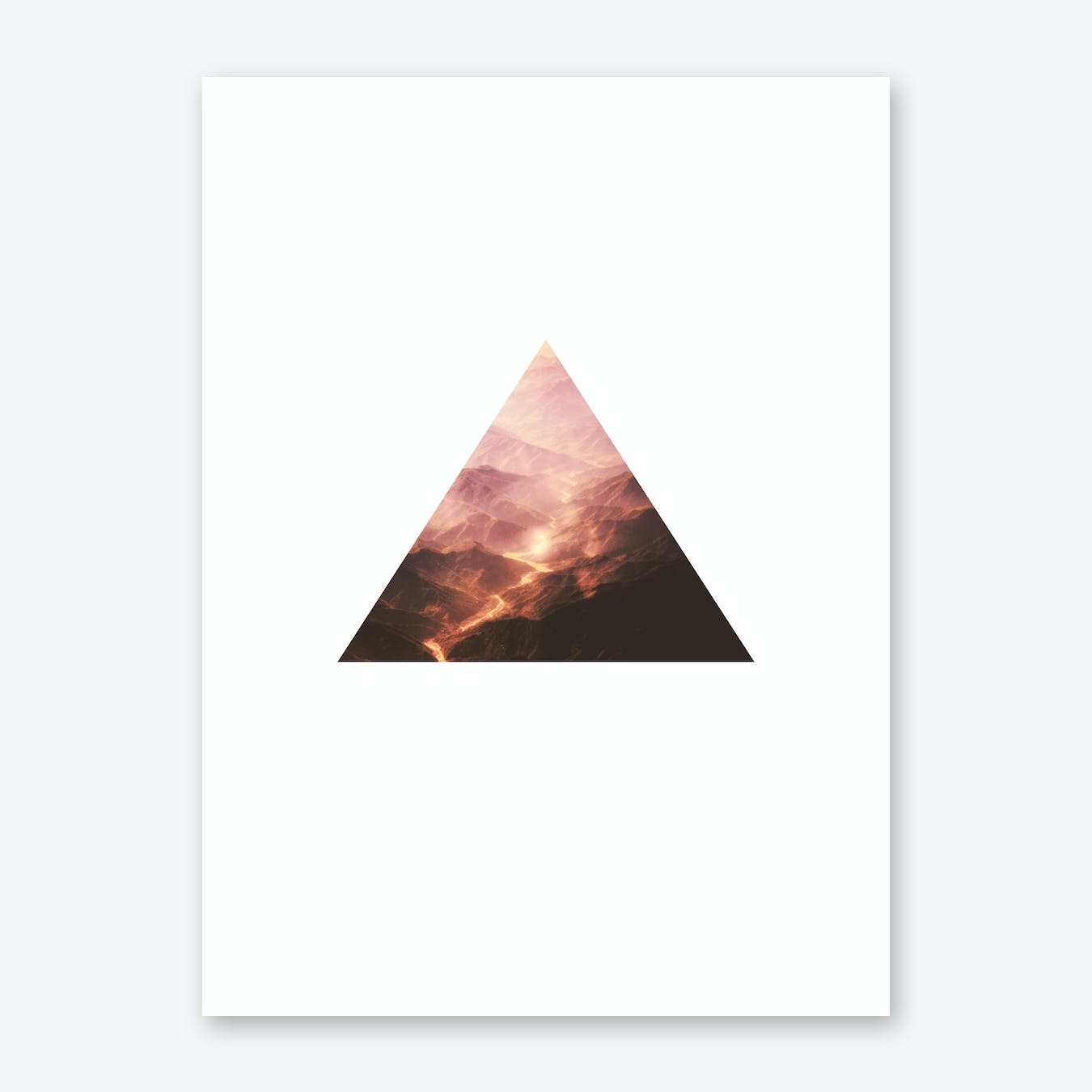Triangle Red MTN Print