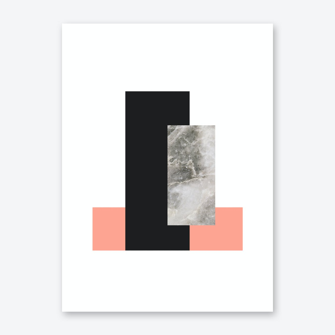 Abstract Marble Affiche Print