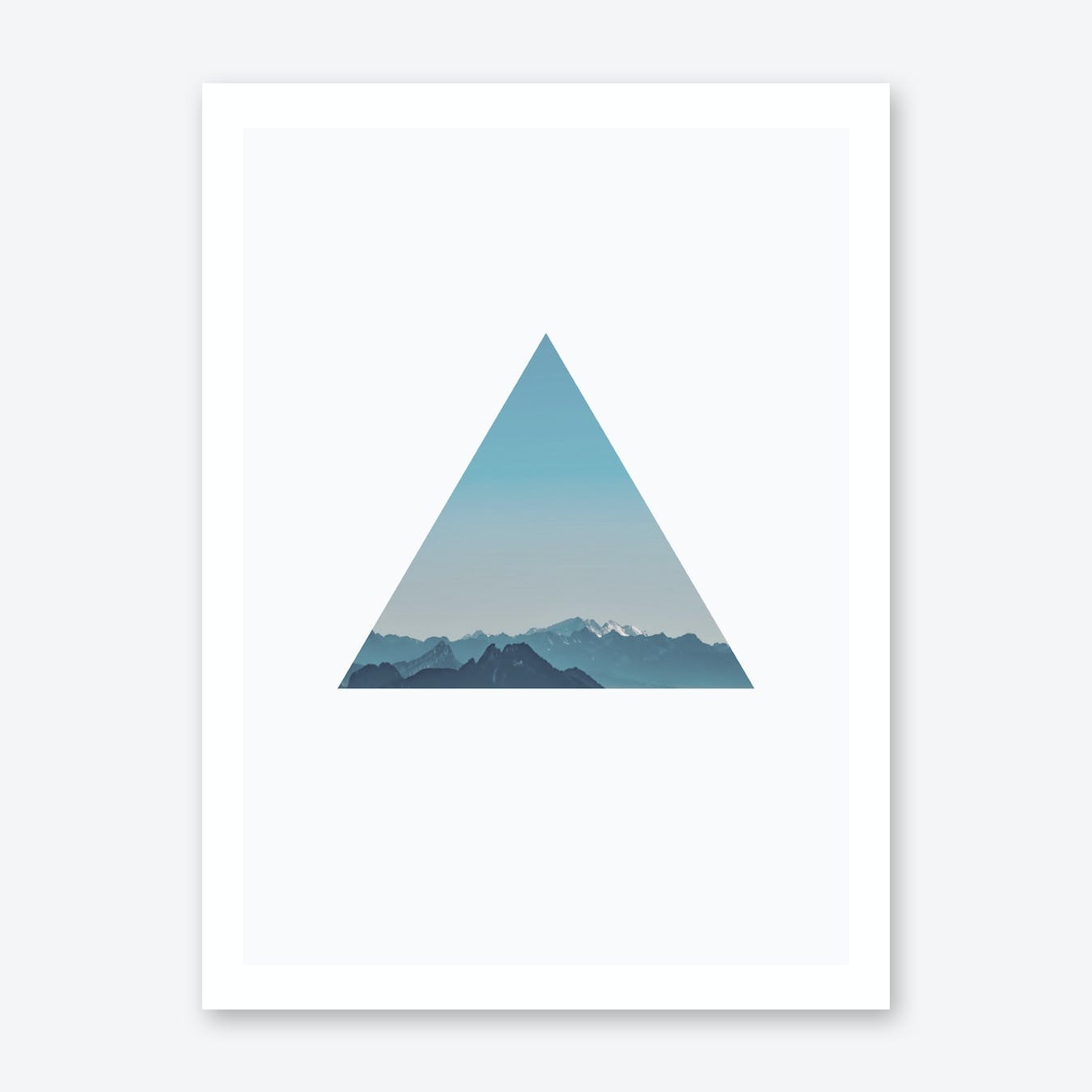 Triangle Mountain Cutout Print