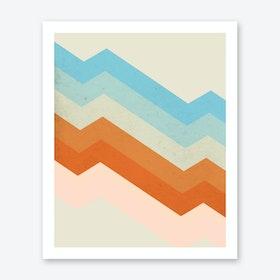 Vibrant Diagonal Stripes Print