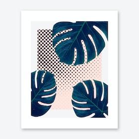 Silk Palm Dots Art Print