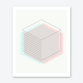 3d Hexagon Art Print