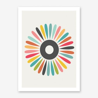 Nordic Inspired Sunburst Art Print