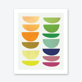Half Moons - Rainbow Art Print