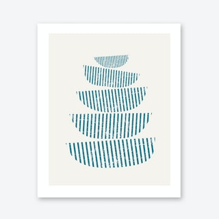 Scandi Stacked Bowls Art Print