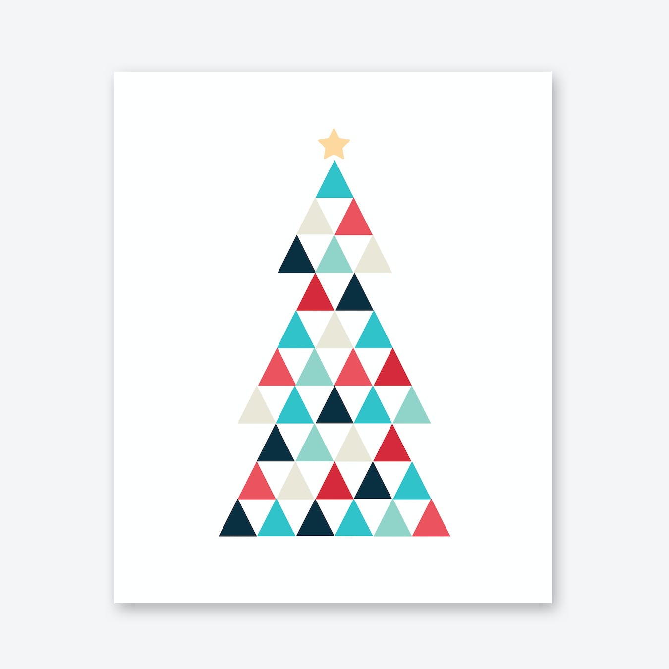 Christmas Tree in Pastel