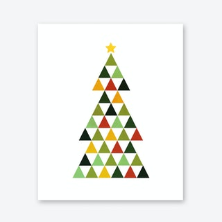 Christmas Tree in Warm Tones Art Print