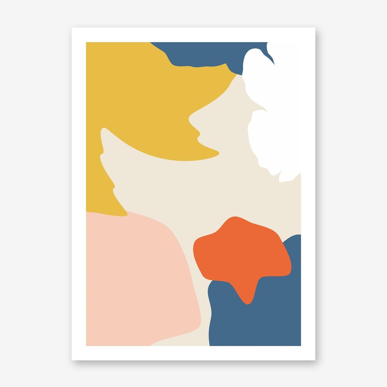 Retro Bricolage Shapes Art Print