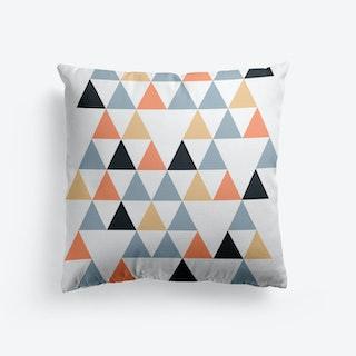 Scandi Triangles Peach Cushion