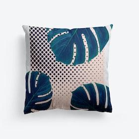 Silk Palm Dots Cushion