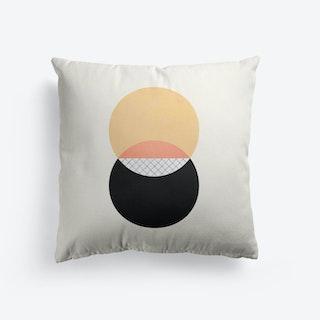 Dualism Gold Black Cushion