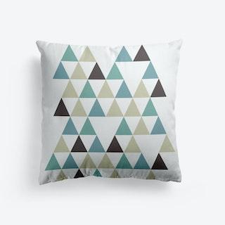 Scandi Triangles Forest Cushion
