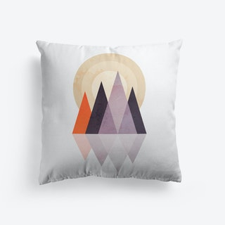 Scandi Mountains Terracotta Purple Cushion