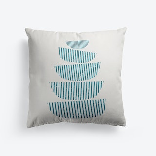 Scandi Stacked Bowls Cushion