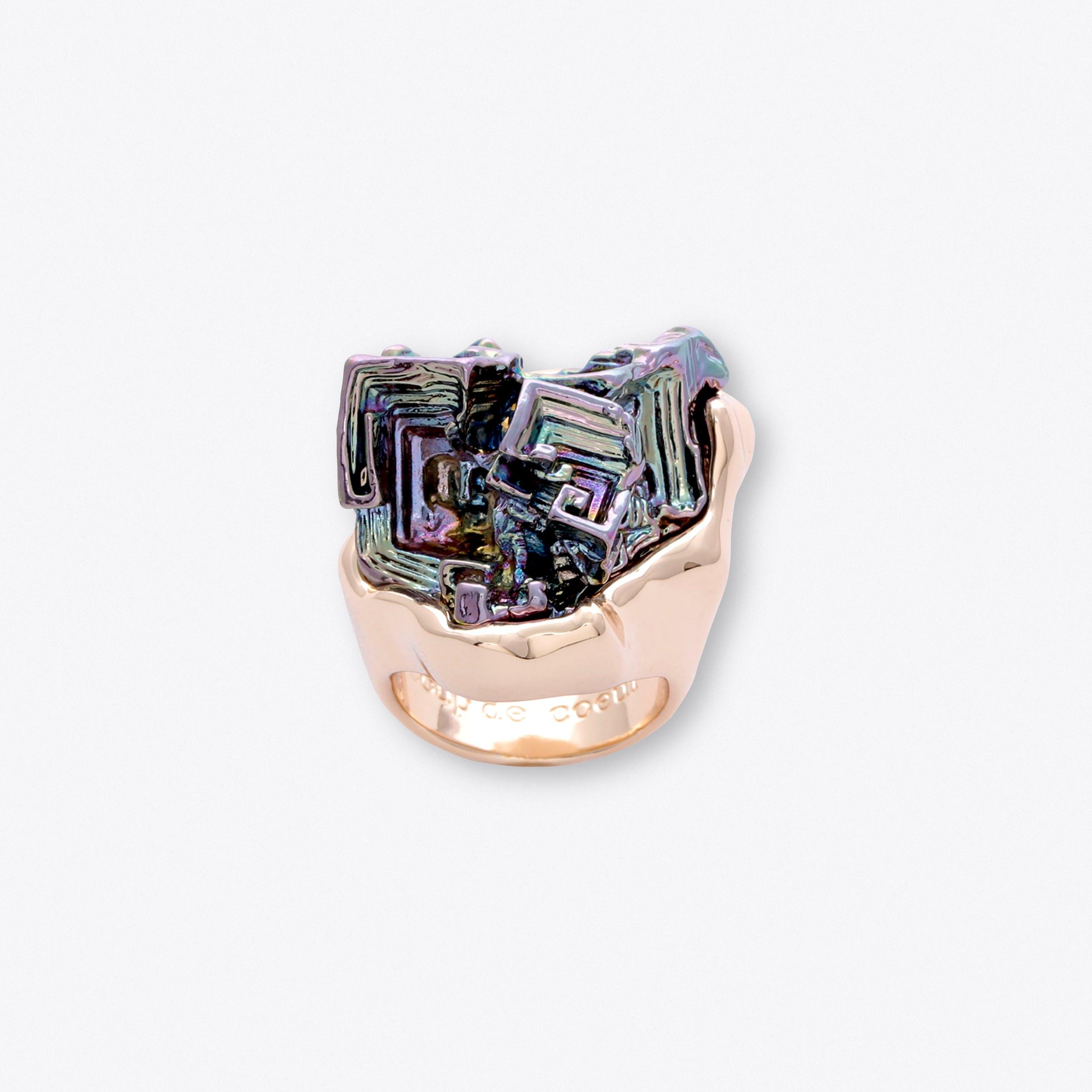 Vortex Rainbow Statement Ring