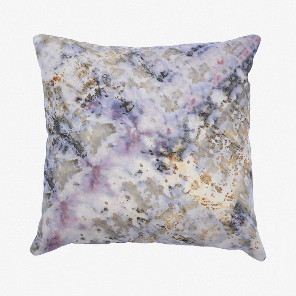 Hand Dyed Cochineal And Iron Silk Cushion