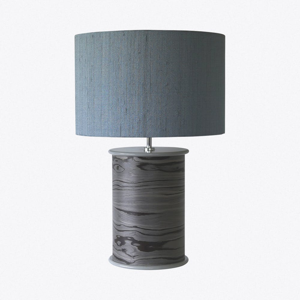 Designer Grey Drum Lamp