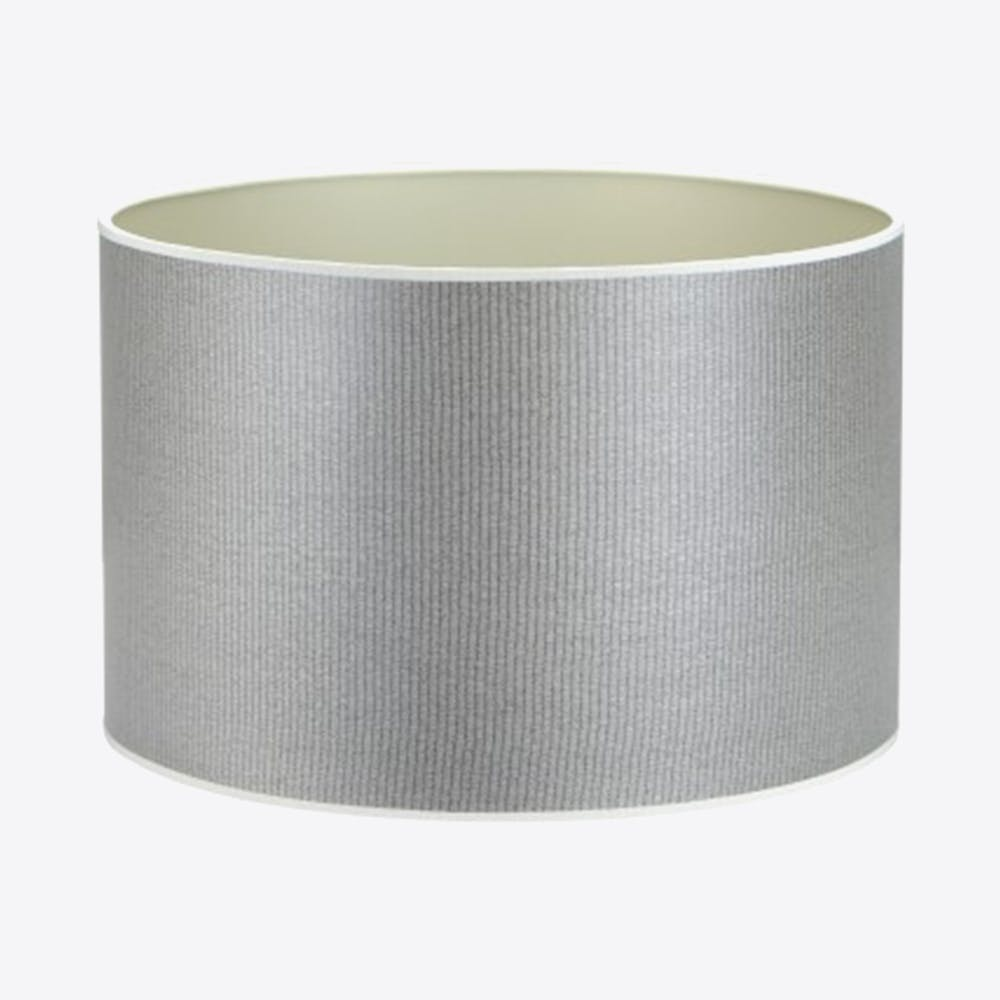 Snake Grey And Champagne Wood Veneered Drum Shade