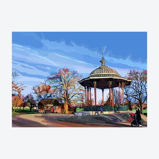 The Bandstand, Clapham Common, South London - A3 Print