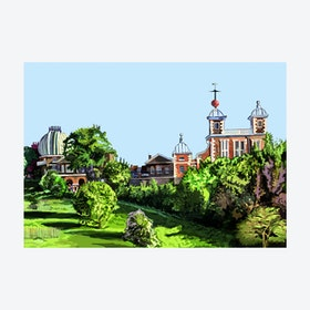 Royal Observatory, Greenwich A3 Print