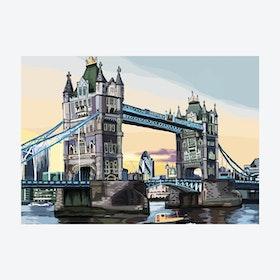 Tower Bridge at Dusk A3 Print