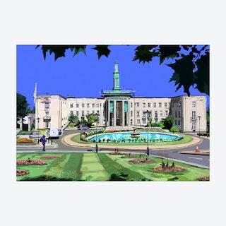 Waltham Forest Town Hall, Walthamstow A3 Print