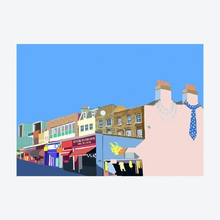 His and Hers, Deptford High Street A3 Print