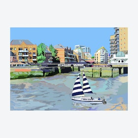 Limehouse Marina Entrance A3 Print