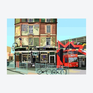 The Bird's Nest, Deptford A3 Print