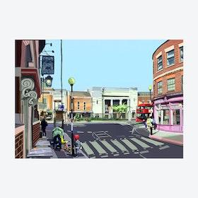 Stoke Newington Town Hall, Hackney A3 Print