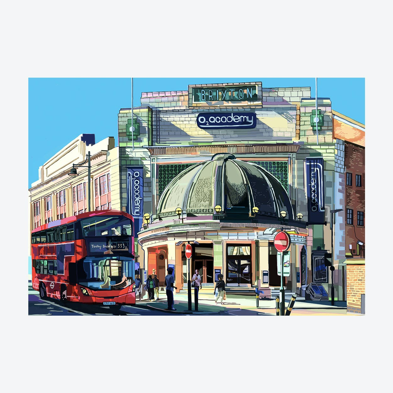 Brixton Academy, South London A3 Print