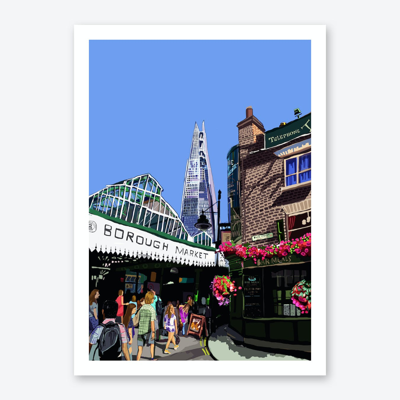 Borough Market, London A3 Print