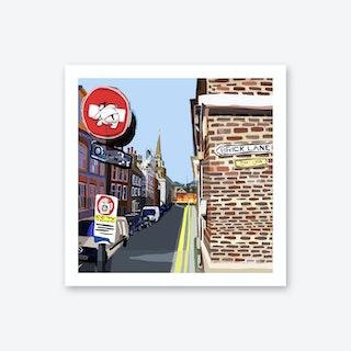Brick Lane, Shoreditch A3 Art Print