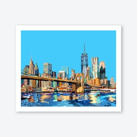 Brooklyn Bridge, New York City A3 Art Print