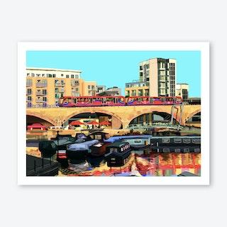 Limehouse Basin, East London A3 Art Print
