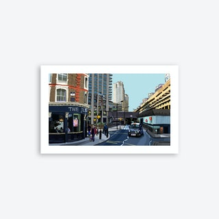 The Barbican and Jugged Hare, London A3 Art Print