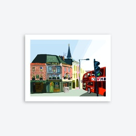 The Golden Heart, Shoreditch A3 Art Print
