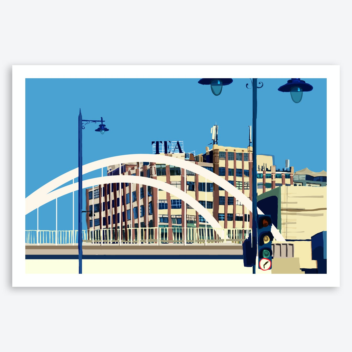 The Tea Building, Shoreditch, East London A3 Print