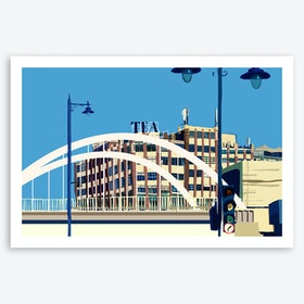 The Tea Building, Shoreditch, East London A3 Art Print