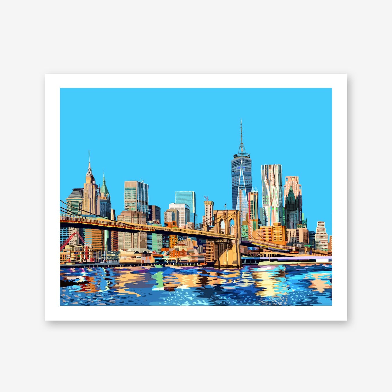 Brooklyn Bridge New York City A3 Print