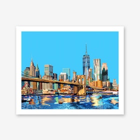 Brooklyn Bridge New York City A3 Art Print