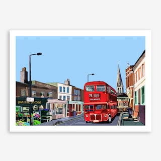 Stoke Newington Church Street A3 Art Print