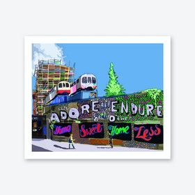 Adore and Endure, Shoreditch A3 Art Print