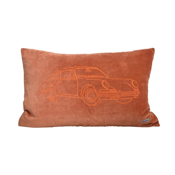 Porsche Warm Orange Cushion Cover