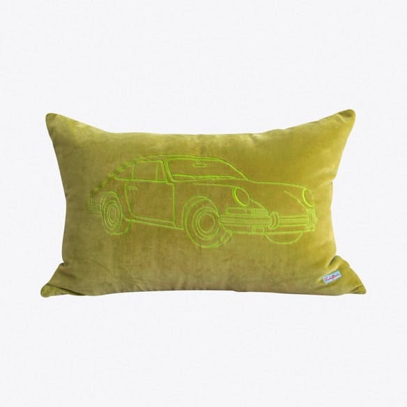 Porsche Light Olive Cushion Cover