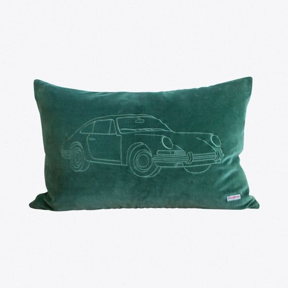 Porsche Forest Green Cushion Cover