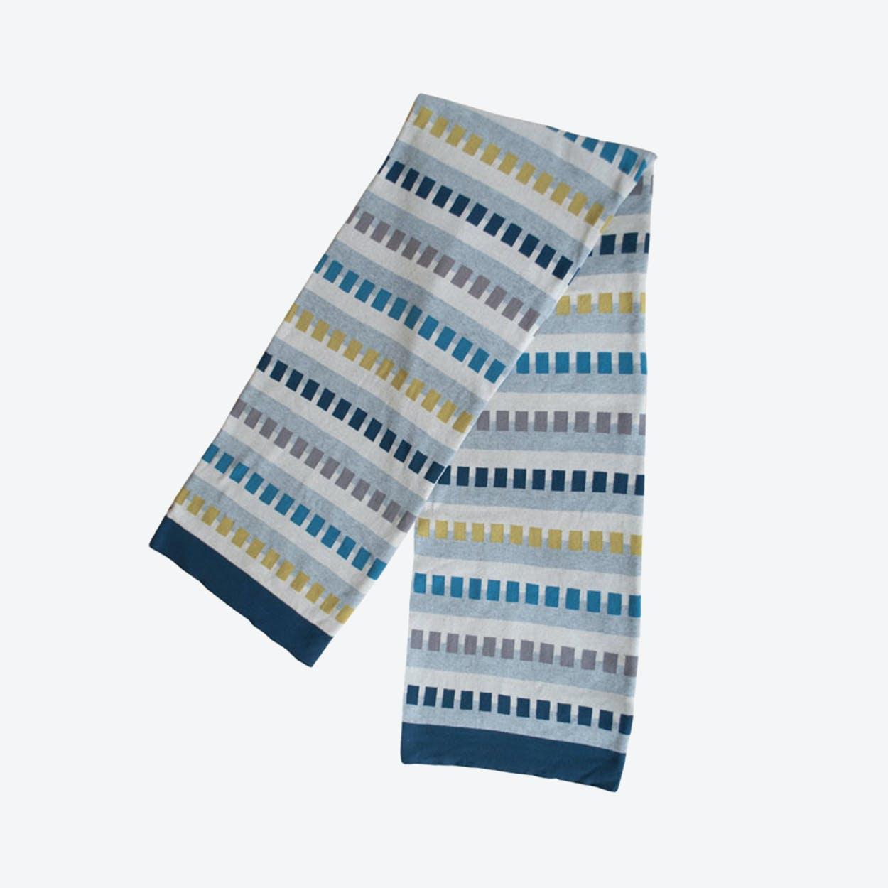 Birk Blanket in Dark Blue